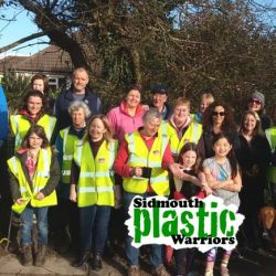 Sidmouth Plastic Warriors Clean up Woolbrook