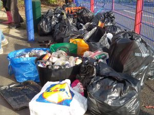Rubbish collected by Sidmouth Plastic Warriors February 2018